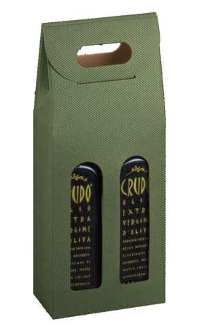 Coffret carton cadeaux pour bouteilles spéciales huile d'olive AOC : Bouteilles