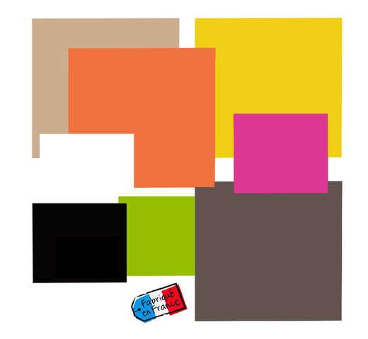Carré droit couleur double face Color's Collection : Boites