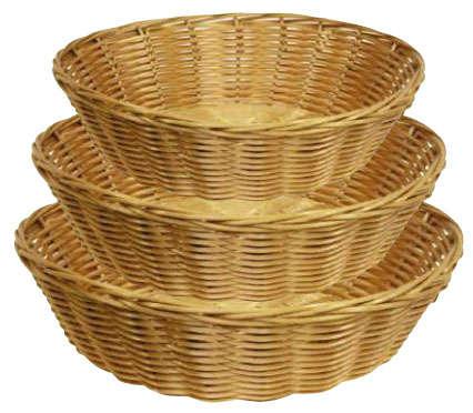 Panières rondes en polypro : Corbeilles & paniers