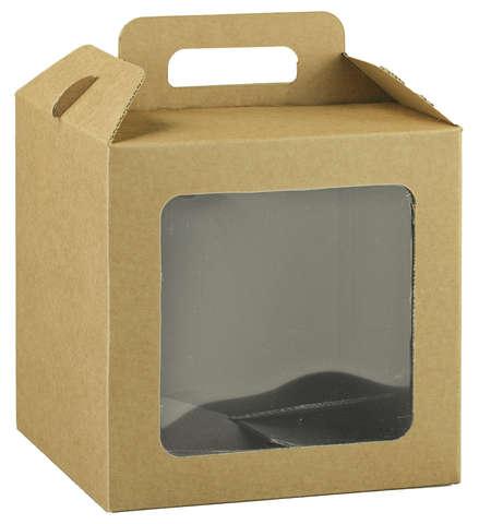 Valisette carton avec fenêtre biodégradable : Boites