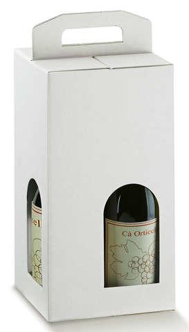 Carton économique blanc 4 bouteilles : Bouteilles
