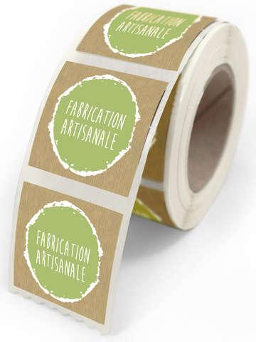 """Étiquettes """"Fabrication Artisanale"""" : Accessoires emballages"""