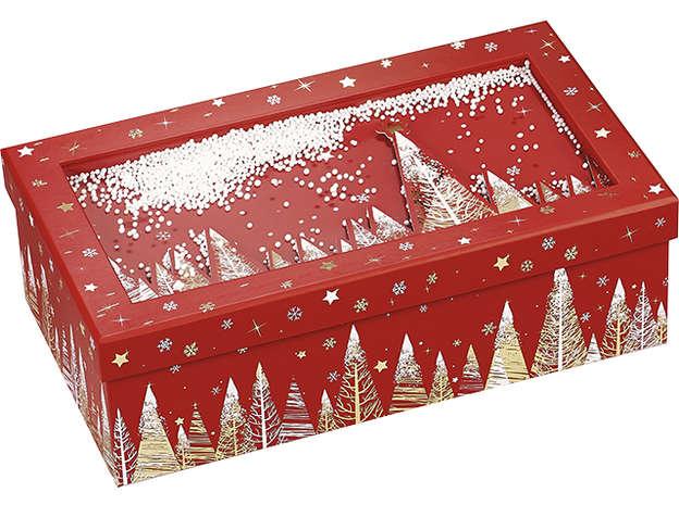 """Coffret carton rectangle """"Bonnes fêtes"""" : Boites"""