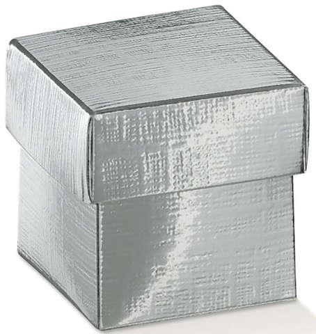 Boîte en carton argent : Boites