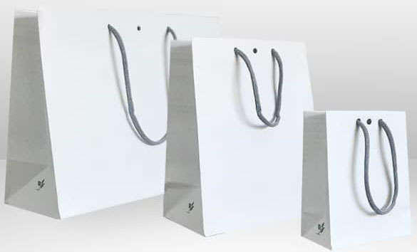 """Sac boutique & traiteur kraft blanc collection """"LUPUNA"""" : Sacs"""
