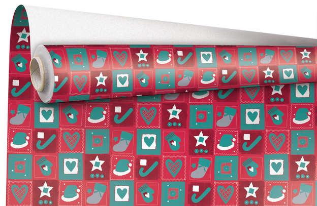 """Rouleau Papier cadeau """"Christmas"""" : Accessoires emballages"""