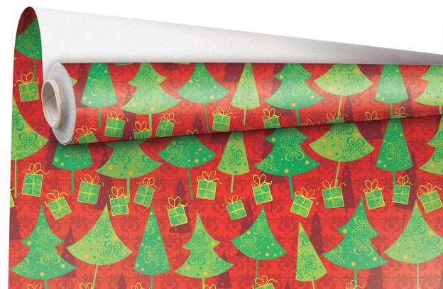 """Rouleau Papier cadeau """"Noël"""" : Accessoires emballages"""