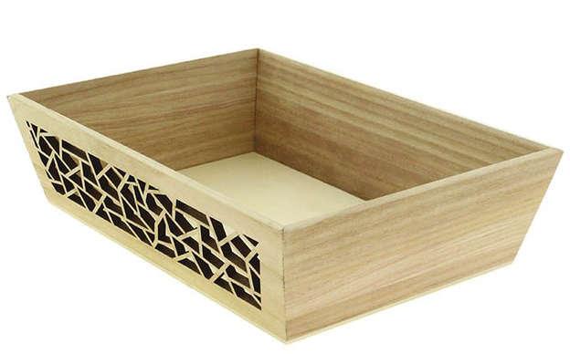 Corbeille rectangle bois : Corbeilles & paniers