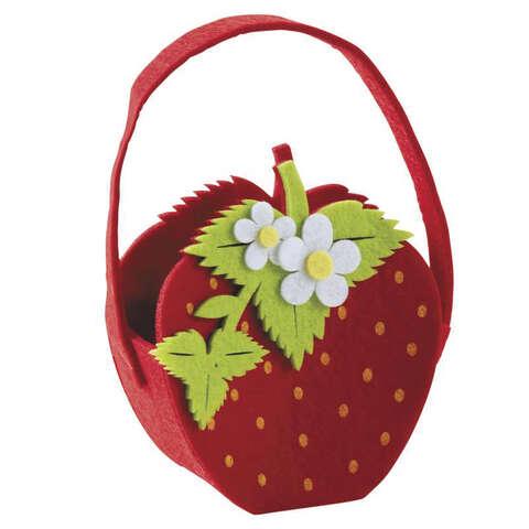 Panier fraise en feutrine  : Corbeilles & paniers