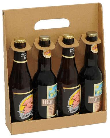 Coffret carton 4 bouteilles de bière 33cl : Bouteilles