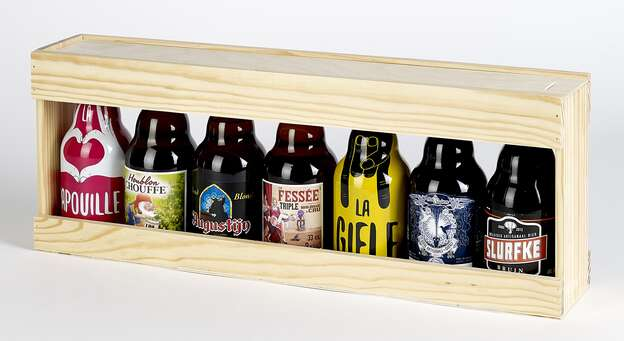 Coffret bois bières Steinie : Bouteilles