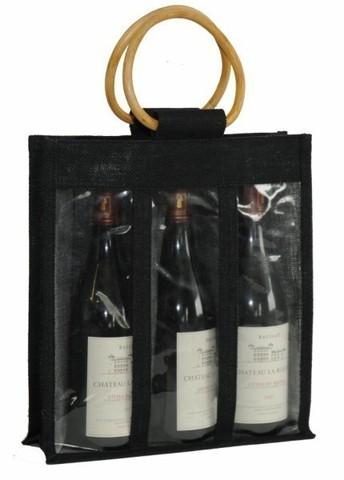 Sac jute 3 bouteilles  : Bouteilles