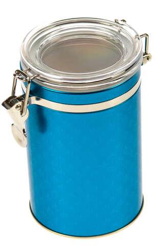 """Boite métal à café """"BLUE PETROL"""" : Boites"""