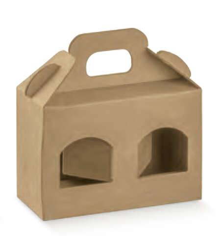 Carton lisse 2 pots hauteur 90 mm : Bocaux