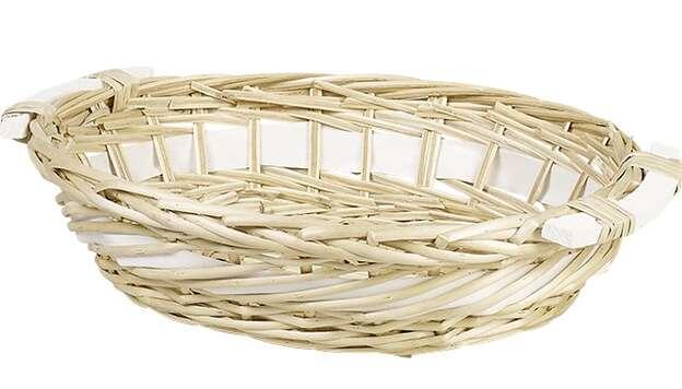 Corbeille osier ovale nature : Corbeilles & paniers