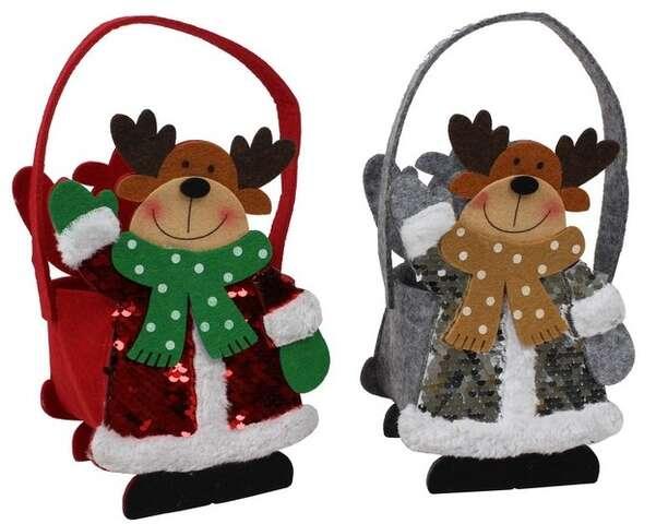 Sac feutrine Cerfs de Noël : Spécial fêtes