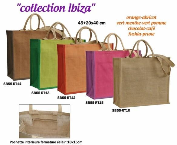 Collection jute IBIZACollection jute IBIZA 450+200X400 mm : Sacs