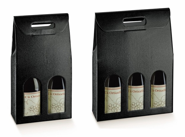 2&3 Bouteilles champagne relief cuir  : Bouteilles