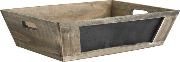 Corbeille bois tableau noir ecobag store - Tableau noir bois ...