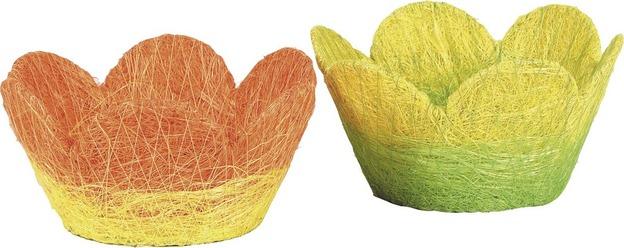 Corbeille papier cordé coloris assortis : Corbeilles & paniers