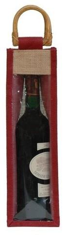 Sac jute 1 bouteille 75 cl avec fenêtre : Bouteilles
