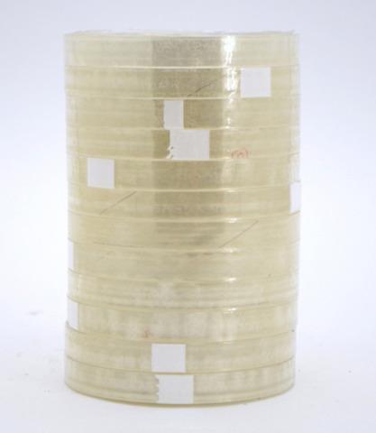 Lot de 12 Scotch 12 mm x 66 m Transparent : Consommables