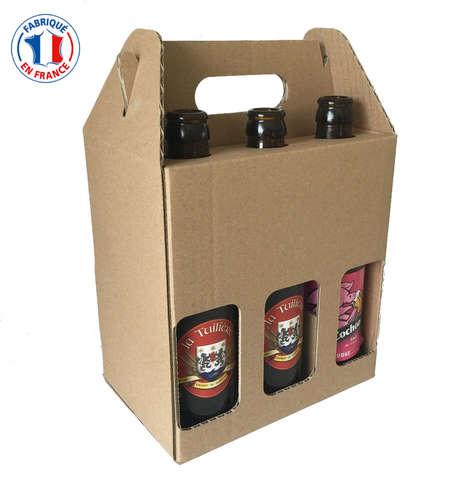 Coffret carton 6 bouteilles de bière 33cl : Bouteilles