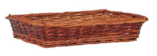 Manne en éclisse 40 x 30 x 9 cm : Corbeilles & paniers