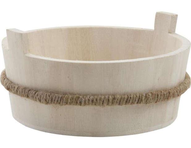 Corbeille en bois Ø 19 h 7 cm : Corbeilles & paniers
