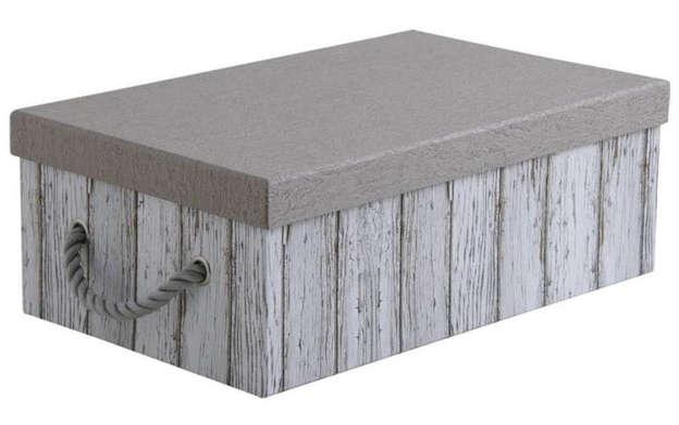 Boite pliable rectangulaire en carton et corde : Boites