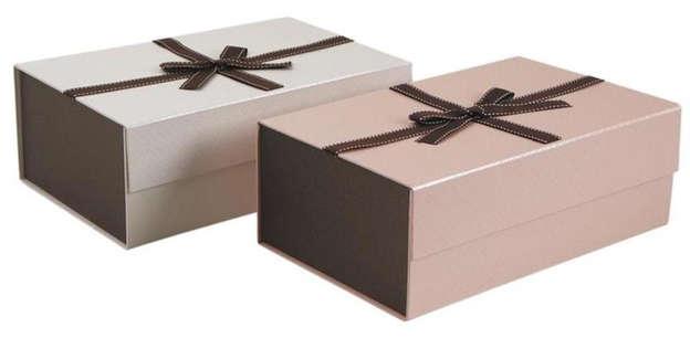 Lot de 2 Coffret pliable en carton : Boites