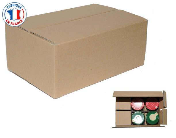 Carton 6 pots expedition : Boites