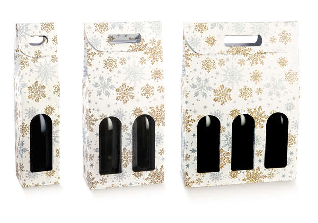 Coffret 1, 2, 3 bouteilles avec fenêtre Collection CRYSTAL  : Bouteilles