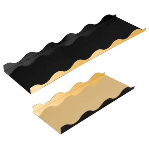 Fond Carton Or/Noir pour Biscuits roulé ou Buches : Boites
