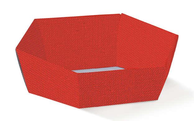 Corbeille Hexagonale Rouge : Corbeilles & paniers