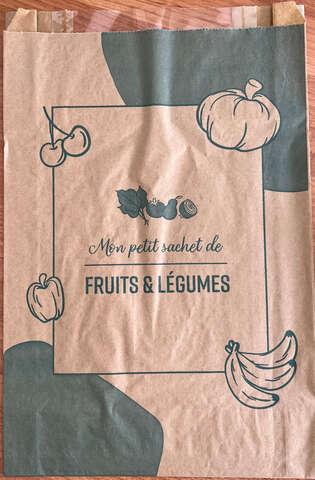 Lot de 1000 Sacs fruits 3 kg kraft + fenêtre : Sachets